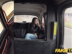 fake taxi sizzling Latina with thick funbags and booty