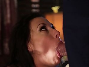 Rachel Starr penetrating an unexpected visitor