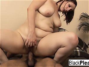 Latina plumper Sonia is longing some immense dark-hued hard-on