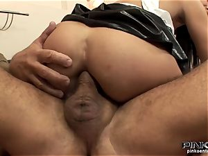 brunette hoe gets fucked firm by an aged man