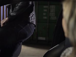 Kleio Valentien penetrating a hot stranger in public