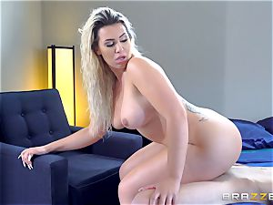 Smoking molten platinum-blonde with a fat arse railing on top of Danny D