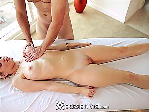 Alli Rae getting massaged and smashed