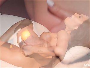 Asa Akira molten 2 toy dp