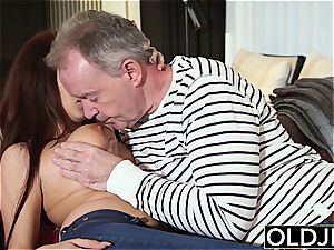 congenital youthful Teenie doggystyle and blow suck off