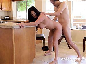 Mature wife thirsts a throatful of jizm