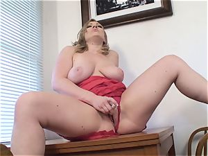 huge-titted wife Vicky Vixen toys gash
