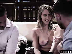 pure TABOO babe Tricked Into revenge threeway with Strangers