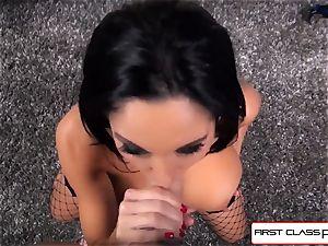 first Class POV-Big booty Ava Addams throating a immense pecker