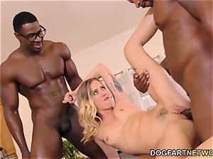 Haley Reed abases cuckold With 2 black fellows