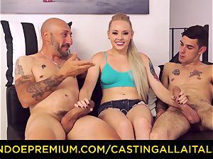 CASTNG ALLA ITALIANA - platinum-blonde vixen harsh dp intercourse
