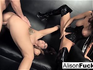 3-way hardcore vigorous intercourse with Alison
