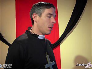 insane nuns Jessica Jaymes and Nikki Benz pleasing gods desires