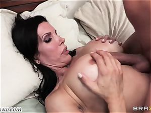 sonnie witnesses as his dad porks his mature dominatrix with fat hooters