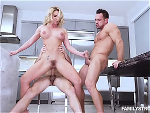 Phoenix Marie gets a red-hot threesome at the dinner table